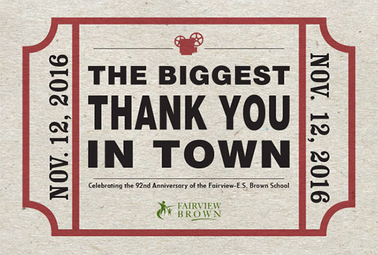 The Biggest Thank YOu In Town